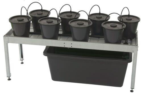 Aeroponik Systems Aero Grow 19 und Dansk Tables veschiedene Zuchttische Pflanzen