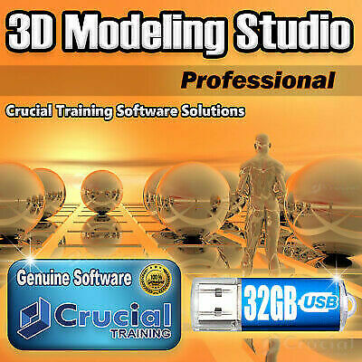 3d Modeling Studio Pro Solid Design Software Graphics Animation on 32gb USB  for sale online | eBay