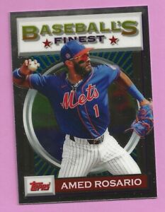 2020 Topps Baseball Finest Flashback Amed Rosario #174 New York Mets