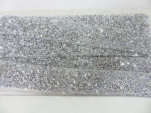 ½ yd Self Adhesive Rhinestone Diamante Trim Wedding Bridal Applique 3cm Crystal
