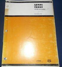 Case 1816b Uni Loader Skid Steer Parts Book Manual