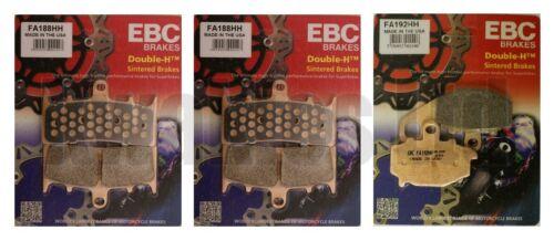 Kawasaki ZX9R C1-C2 1998-1999 Set of EBC Sintered HH Front /& Rear Brake Pads