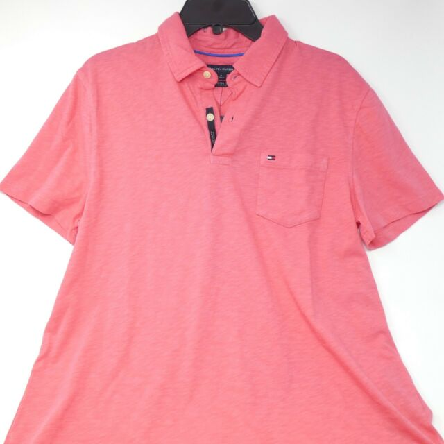 877eb2f52 Tommy Hilfiger Men s Pink Size M Custom-fit Polo Shirt for sale ...