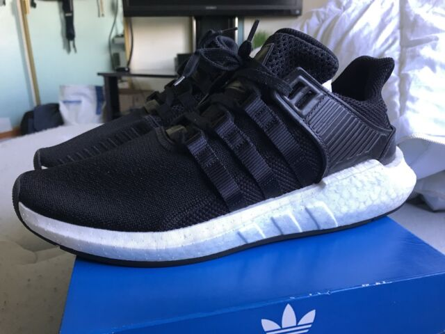new styles 77c3c f06af Adidas EQT SUPPORT 9317 BB1236 Core BlackWhite Milled Leather Mens Size  9.5