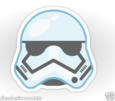 Star Wars Stormtrooper Force Awakens Blaster Sticker decal car laptop scrapbook