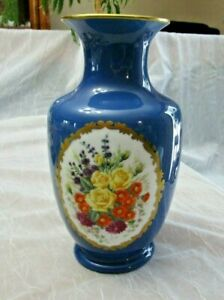 "Limited Edition Franklin Porcelain Vase France 10"" x 4"" 1982 Very good condition"