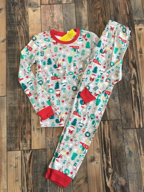 NEW Gymboree girls Christmas Holiday Red Reindeer 2 piece pajamas pj/'s 3 NWT