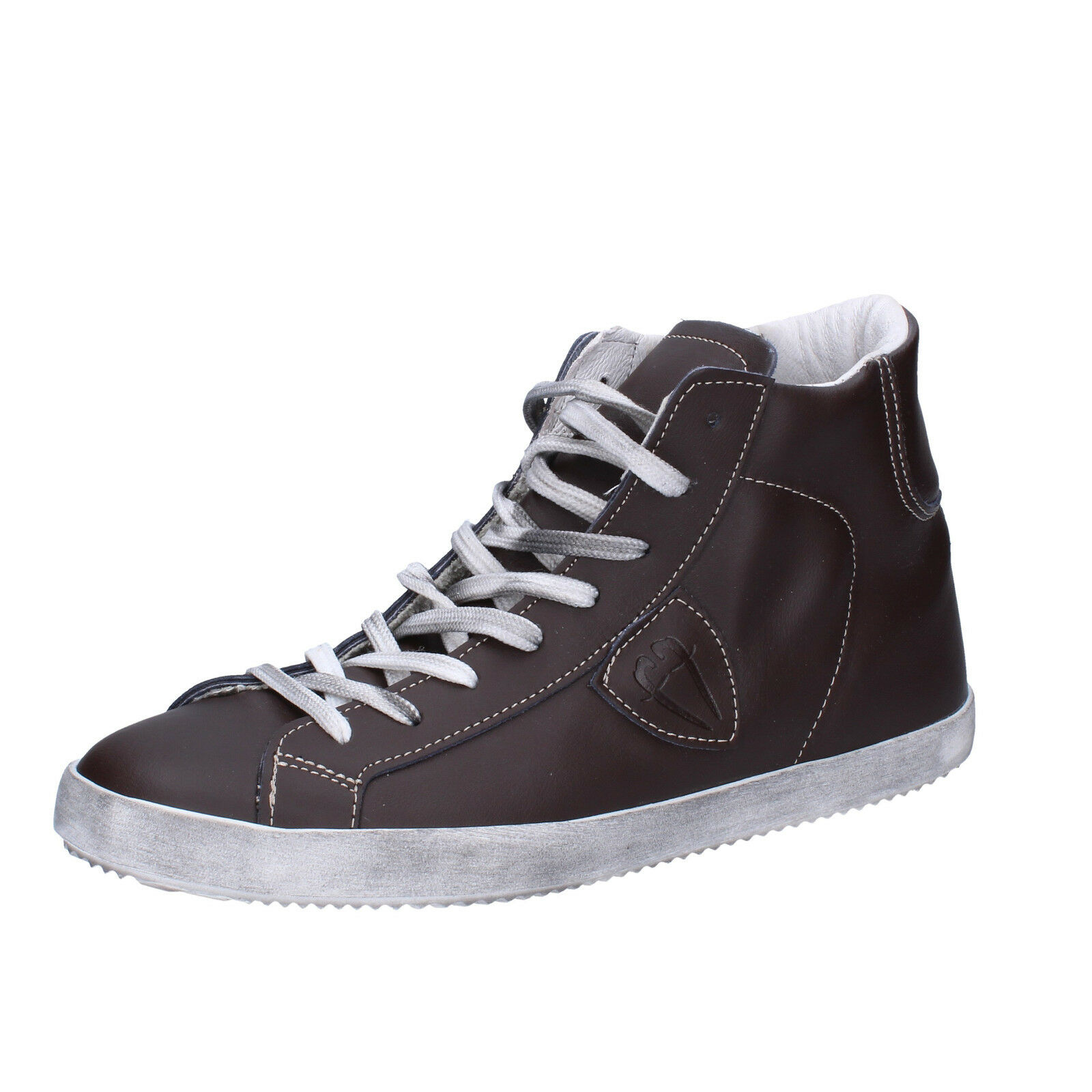 Men's shoes CAFFE' ITALIANO 9 () sneakers brown leather AG305-B