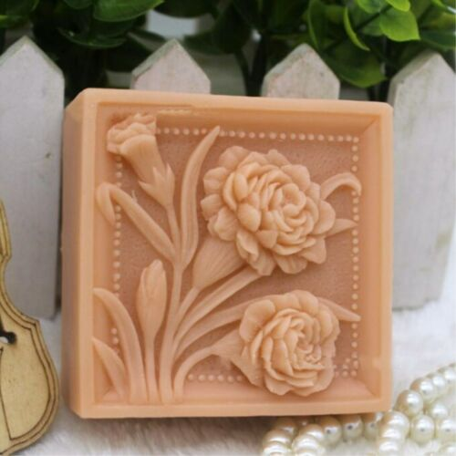 Flower Silicone Mold Silicone Soap Bar Mold DIY Craft Molds Handmade Soap Mold
