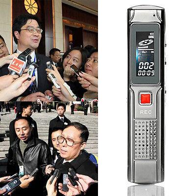 8GB Stereo USB Digital LCD Audio Voice Recorder MP3 Player Recording Pen F4