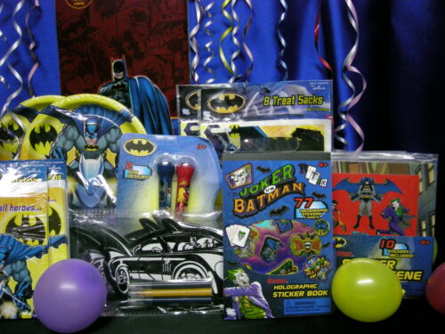 Batman Party Set # 16 F Tablecloth Plates Napkins Cups Loot Pieces Batman Favors