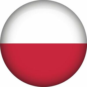polish poland national flag round icon sticker decal graphic vinyl