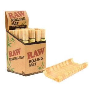 Raw-Bambu-Naturale-per-Rollare-Tappetino-9x13-cm-Sigaretta-Legno-Vassoio