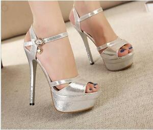 0dbc7ae92d8 Image is loading WOMENS-PEEP-TOE-STRAPPY-PLATFORM-STILETTO-LADIES-HIGH-