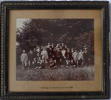 BIEDERMEIER JUGENDSTIL FOTO 1893 BILDERRAHMEN RAHMEN SCHWARZ GOLD FALZ 36,5x32cm
