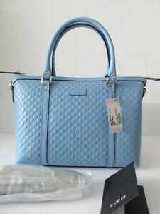 b743d198699 NEW Gucci 449656 Leather Micro GG Medium Convertible Purse Handbag ...
