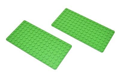 NEW LOT of 50 BRIGHT GREEN Thin Genuine LEGO Base Plate 8x16 MiniFigure