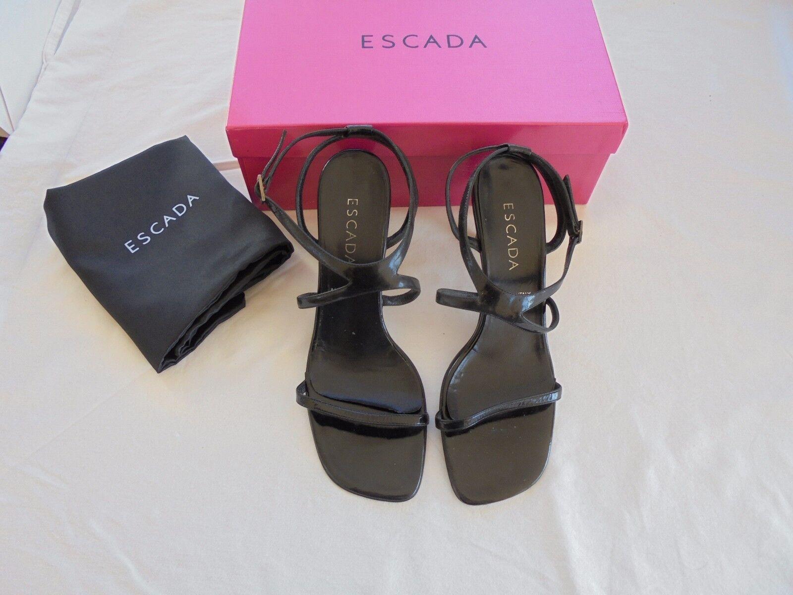 ESCADA Lackleder Sandaletten NP:  TOP Gr High Heels Schuhe Tasche Gr TOP 39 39,5 40 de0996