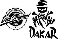 Dakar Skull Aufkleber viele Farben ANSEHEN! DECUT DECAL JDM