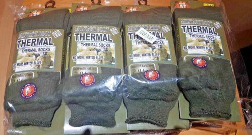 Taille 6-11 3 Paires De Homme Armée Chaussettes 2.4 Tog thermal Long Militaire Boot Chaussettes