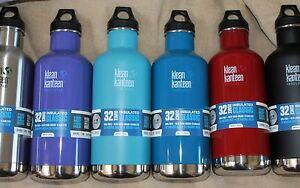 KLEAN-KANTEEN-Insulated-32oz-Standard-MOUTH-2-LIDS-Sport-Cap-lid-water-bottle