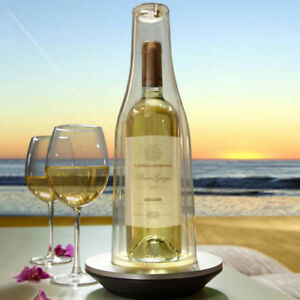 Details about Skybar Insulated Wine Cooler LED wine Glow Cover Keeps wine  Chilled NEW