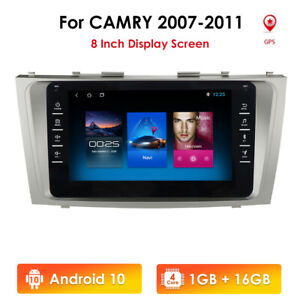 """For 2007-2011 TOYOTA CAMRY 8"""" HD Car Radio Android 10 GPS Navigatin FM Stereo US"""