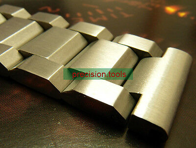 22mm Heavy Solid Stainless Steel Bracelet 17B Double Flip Lock Clasp For SBBN015