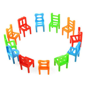 18Pc Plastic Balance Chairs Board Game Toy Kids Educational Stacking ...
