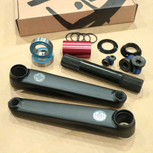FIT BIKE CO BMX INDENT 24mm BICYCLE CRANKS BLACK SUNDAY ODYSSEY PRIMO CULT