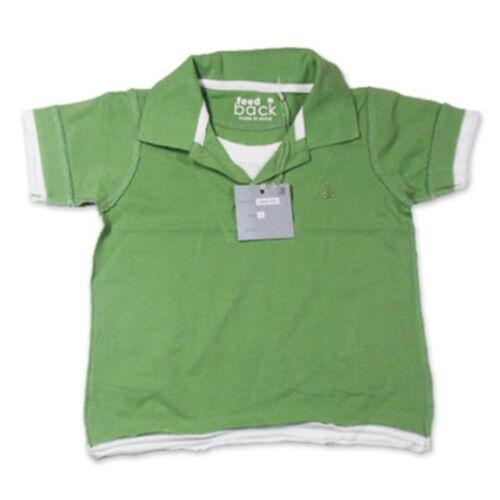 6 Size 3 GreenCollarShort Sleeves Boys Feedback Polo Tee Shirt