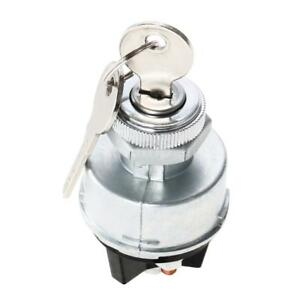 Ignition-Switch-w-2-Keys-Metal-Universal-Auto-Accessory-for-Car-Tractor-Trailer