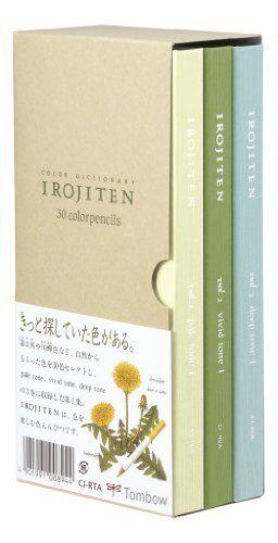 Tombow Irojiten Color Dictionary Color Wooden Pencil Set 30 Color Set Tones