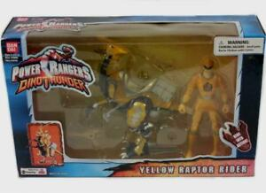 Power Rangers Dino Thunder jaune Raptor Rider W 5   Power Rangers Dino Thunder Yellow Raptor Rider W 5