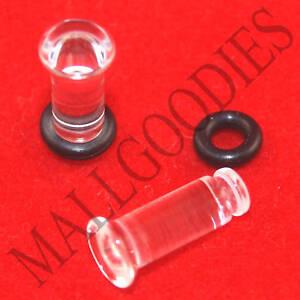1329 Acrylique Unique Flare clair 2 Gauge 2 G Plugs 6 mm MallGoodies 1 paire 2pcs