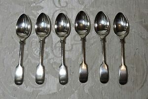 6-cucchiaini-te-caffe-Sheffield-c1900-Silver-Plate-Fiddle-Six-Tea-Coffee-Spoons