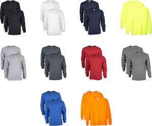 Gildan Men's Ultra Cotton Adult Long Sleeve T-Shirt (2 Pack)