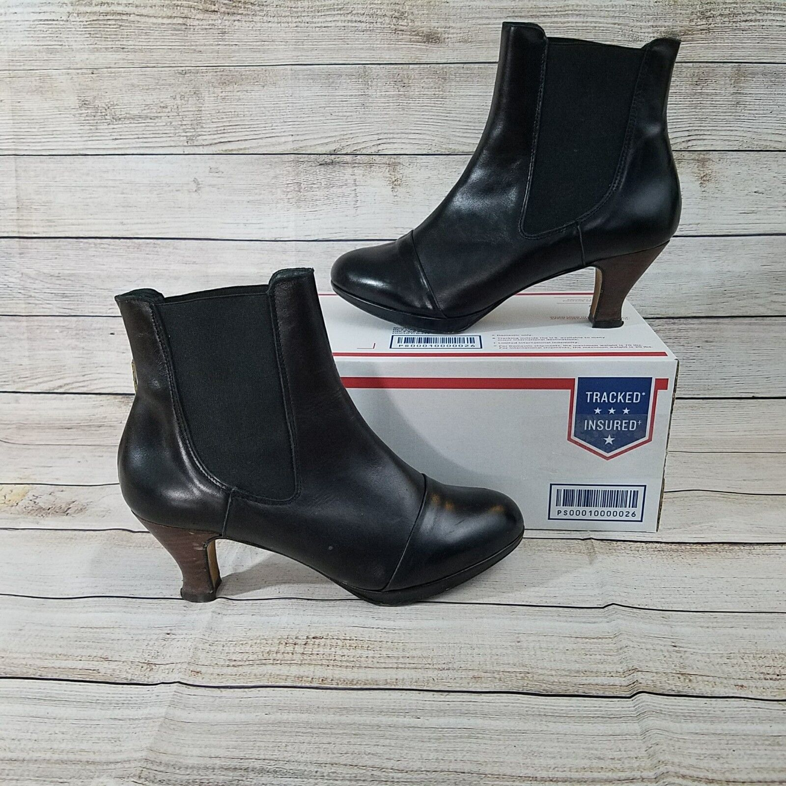 TOPSHOP Women's Black Leather Ankle Boot Size 40 Boots Made In Spain