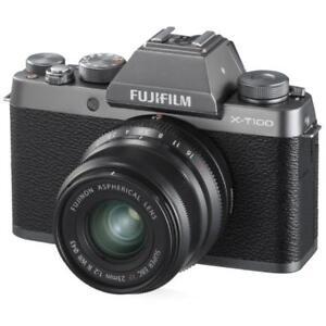 """Fujifilm X-T100 XT100 15-45mm 24mp 3"""" Digital Camera New Cod Agsbeagle"""