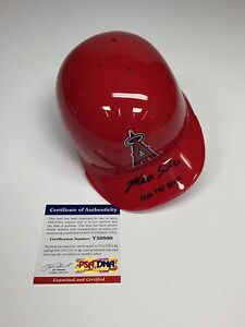 Matt Shoemaker Signed Angels Baseball Mini Helmet