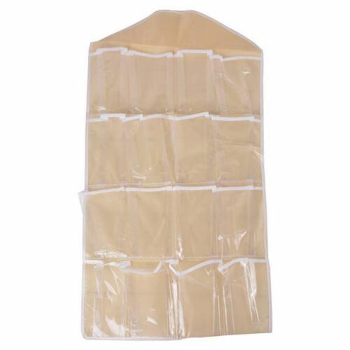 1 Wandhaken Aufbewahrungstasche 16 fächer für Schmuck 80cmx42cm Wandhaken A//7