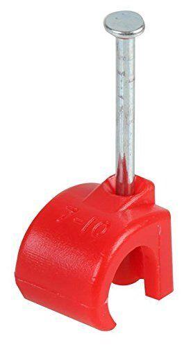 Bianco Chiaro /& Rosso Cavo Clip 3.5mm a 26mm-confezioni da 50-100 Rotondo Nero