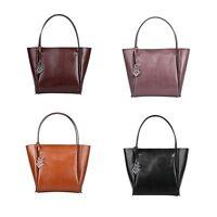 Simple Medium Women's Genuine Leather Tote Bags Shoulder Travel Weekned Handbags