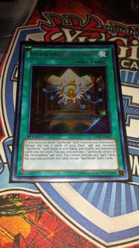 Spellbook Library of the Heliosphere M//NM Yugioh ABYR-EN087 Secret Rare