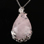 Natural-Quartz-Crystal-Stone-Teardrop-Flower-Healing-Gemstone-Pendant-Necklace thumbnail 18