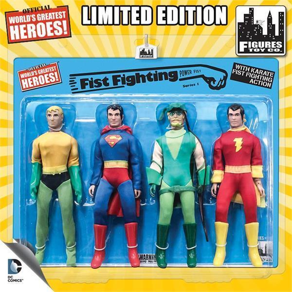 DC Comics Retro de 8 Pulgadas de figuras de acción Puño lucha acción serie 1 paquete de cuatro
