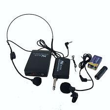 NEW Nutek Professional Wireless Microphone headset Transmitter Receiver Lavalier