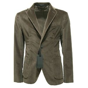 100% top quality incredible prices sold worldwide Details about 6852L giacca uomo verde MESSAGERIE giacche jackets coats men  velluto
