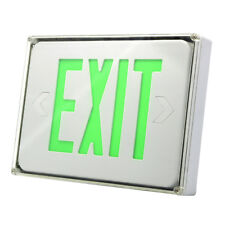 New Led Exit Sign Emergency Light Green Letters Ceiling Amp Wall Mounting Us