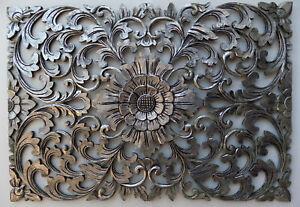 Pannello-floreale-in-legno-mdf-traforato-a-mano-cm-50x72-argento-quadro-dipinto